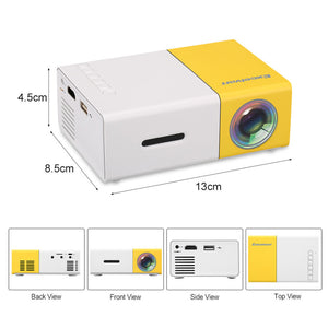 Projectors YG-300 LCD Mini Support 1080P Portable LED Projector Home Cinema