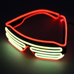 Double Color Glow LED Glasses
