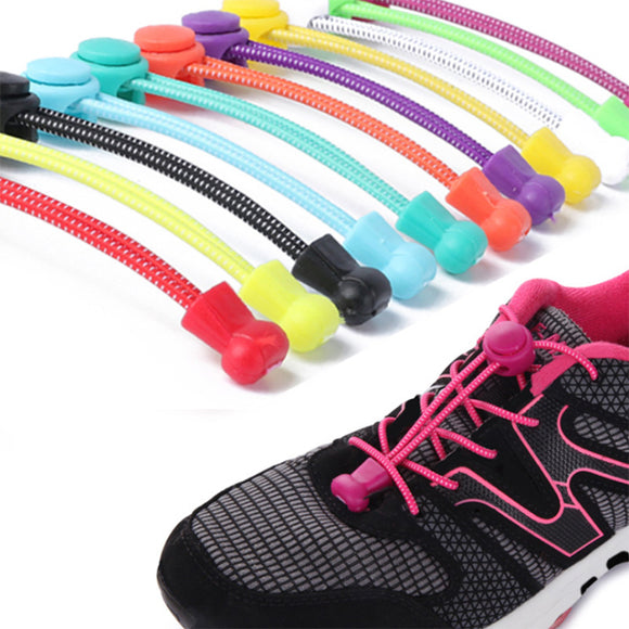 1 Pair No Tie Locking Shoelace Replacement Elastic Unsiex Women Men Trainer Running Athletic Sneaks Shoe Laces Fit Strap Shoelace