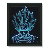 Dragonball Gokuhalo Framed Canvas