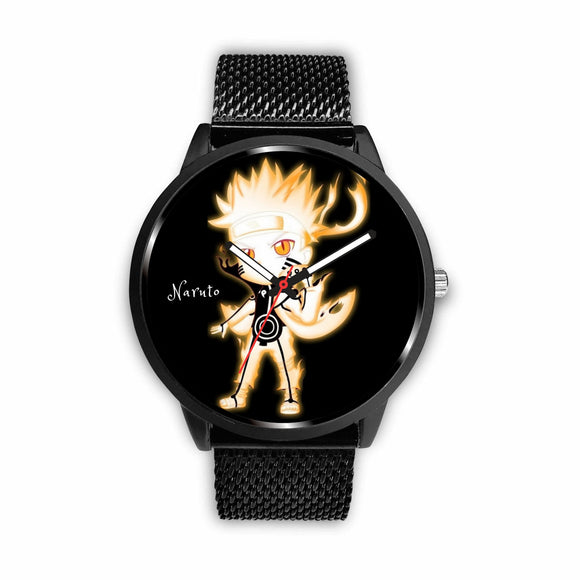 Naruto genuine leather / stainless steel Quartz watch