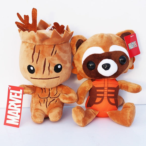 20cm Guardians  Galaxy Plush Doll Toys Tree People Rocket Raccoon Plush