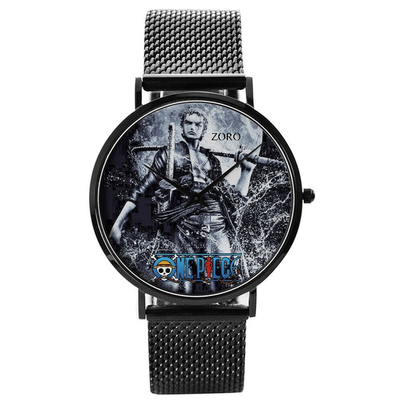 OnePiece ZORO Quartz Watch With Stainless Steel Band
