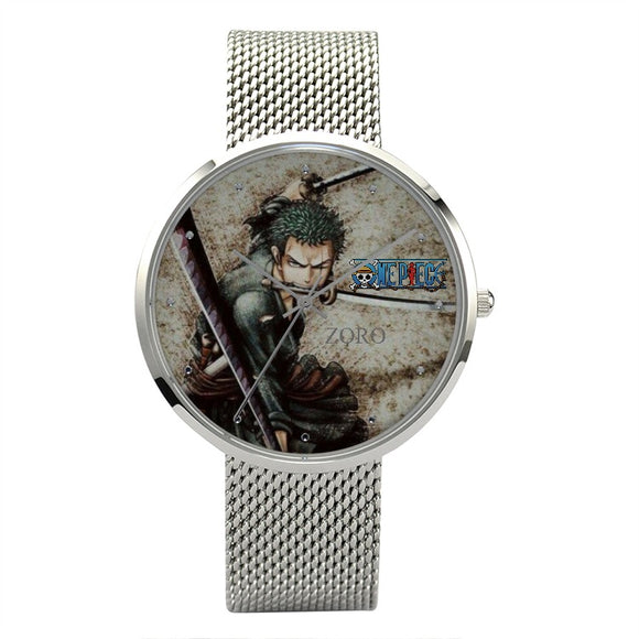 OnePiece ZORO v4 Quartz  Watch With Stainless Steel Band