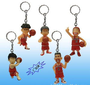 8cm 5pcs/set Keychain Slam Dunk Sakuragi Hanamichi Action Figures