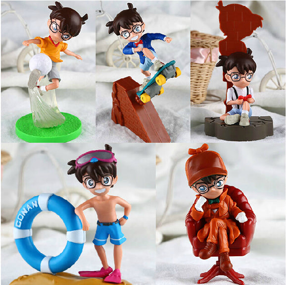 5pcs/set Detective Conan PVC Action Figures