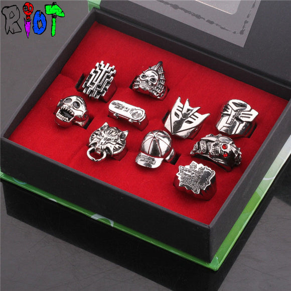 Detective Conan series 10 style ring sets with box vintage