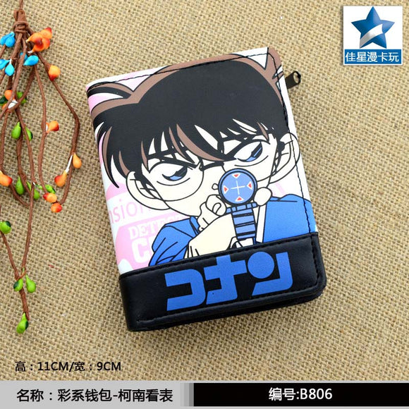 Detective Conan PU Short Wallet/Zipper Purse