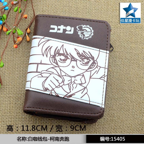 Detective Conan Chocolate PU Short Wallet/Purse With Zipper