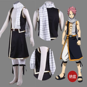 Fairy Tail Natsu Long Scarf Dragneel Anime Cosplay Costume White