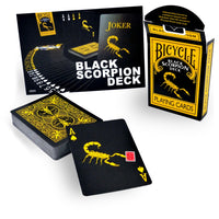 Magic Makers Black Scorpion Deck- In Bicycle Stock - Eagle Magic Store