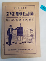 The Art of Stage Mind Reading or Second Sight