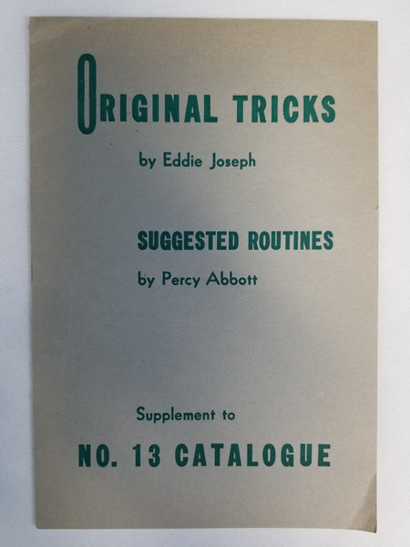Original Tricks by Eddie Joseph WITH Suggested Routines by Percy Abbott