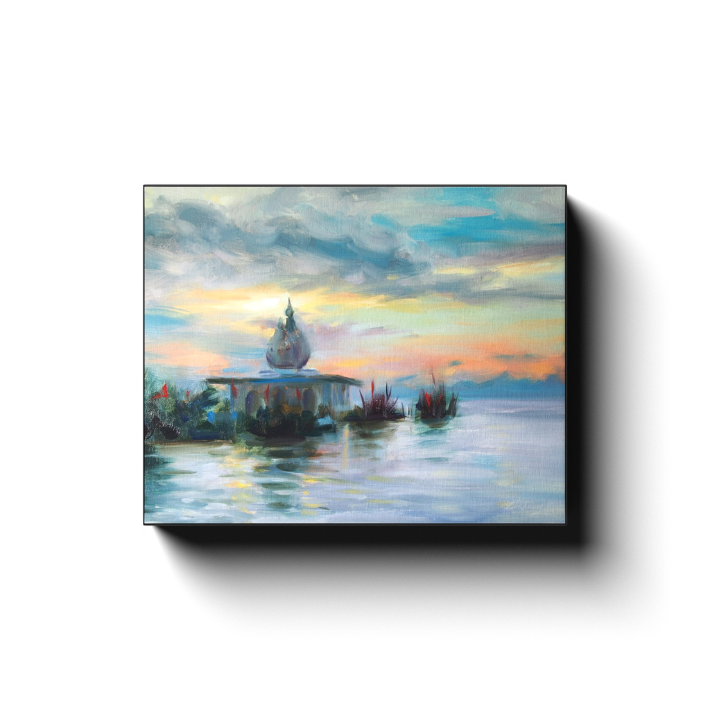 SUNSET AT THE TEMPLE Canvas Print Gallery Wraps