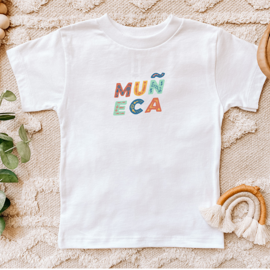 Colorful Toddler Muñeca Shirt