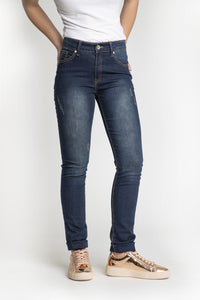 Jeans skinny usé extensible Emily