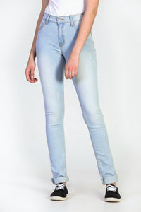 Jeans skinny extensible ultra pâle Emily