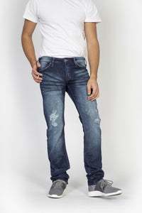 Jeans jambe droite troué William