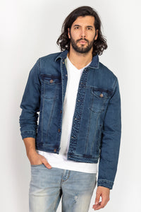 Veste en denim extensible