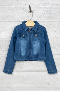 Veste denim zippée