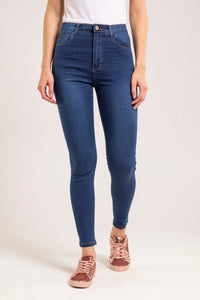 Skinny taille haute stretch