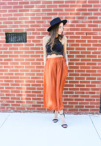 Copper Goddess Wide Leg Pant