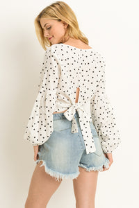 Tie Me A River Polka Dot Top
