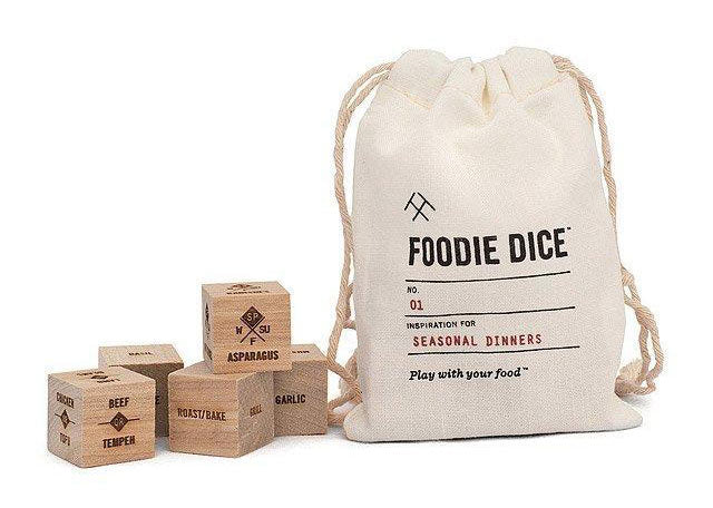 dice featuring food inspiration