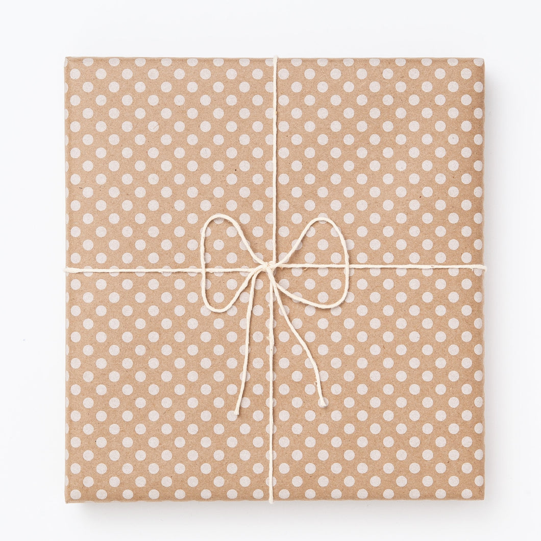 White Polka Dot Gift Wrap
