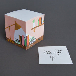 Library Sticky Note Cube