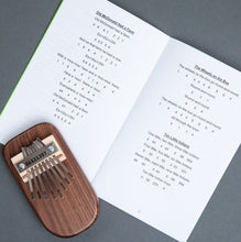 Load image into Gallery viewer, Walnut Thumb Piano & Children's Songbook