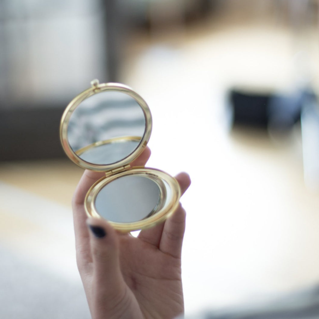 Gold Mirrored Compact