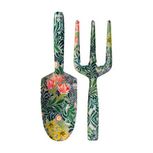 Load image into Gallery viewer, Floral Gardening Fork & Trowel