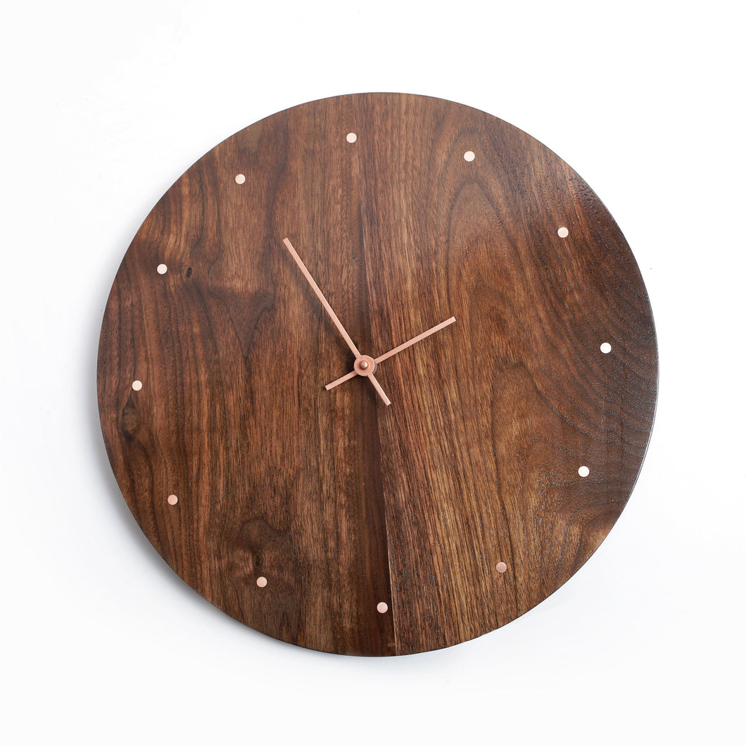 Wooden & Copper Clock