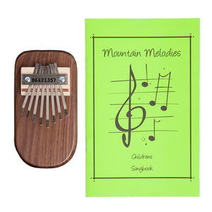 Walnut Thumb Piano & Children's Songbook