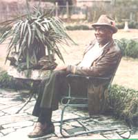 Dr. Booker T. Whatley on his patio