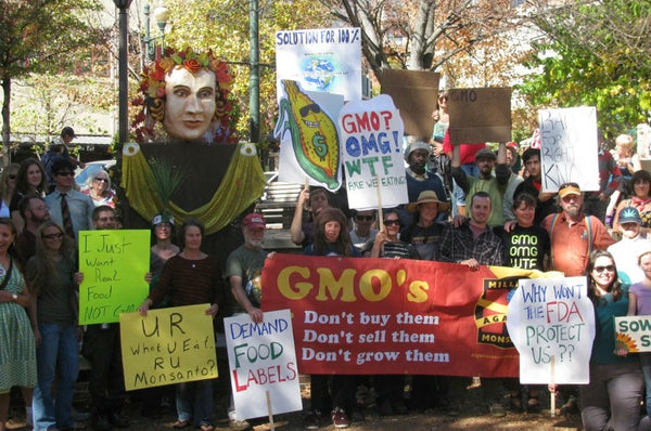Anti GMO rally supporting local and organic food systems!