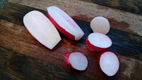 French breakfast radishes are great to plant in the cool weather of fall.