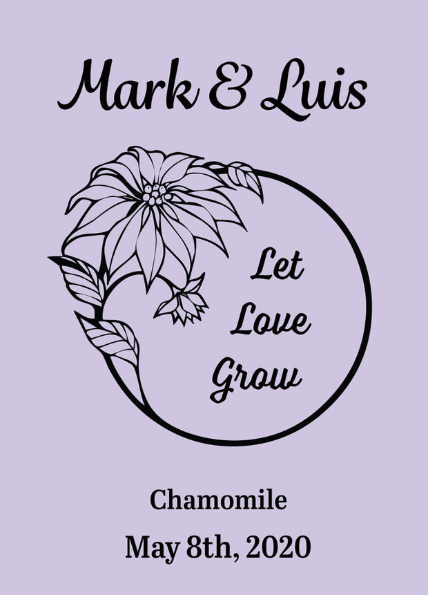 Pre-Designed Template - Let Love Grow - Sow True Seed