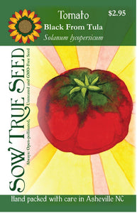 Tomato seeds - Black from Tula : Heirloom produces high yields of large 10-12 oz purpleish brown fruits.