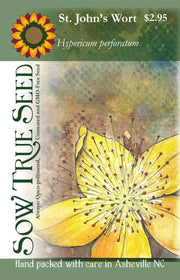 Herb seed - St. John's Wort : Yellow flowering herb known for its antidepressant benefits.