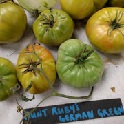 Slicing Tomato - Aunt Ruby's German Green, ORGANIC - Sow True Seed