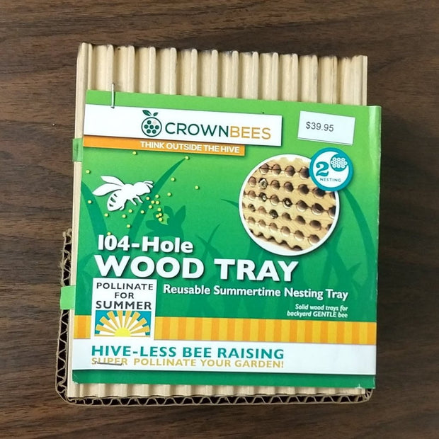 Gifts - Leafcutter Bee Medium Wooden Tray - Sow True Seed