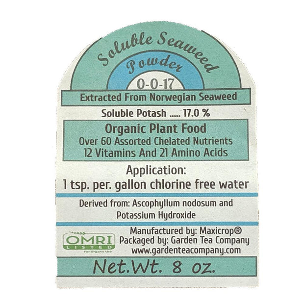 Soluable Seaweed Powder Label