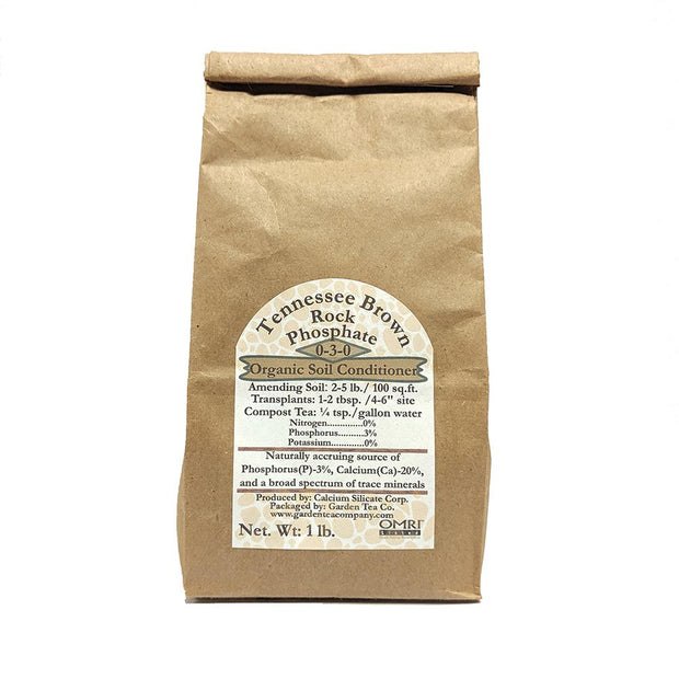 Soil Amendment - Tennessee Brown Soft Rock Phosphate, 1 lb - Sow True Seed