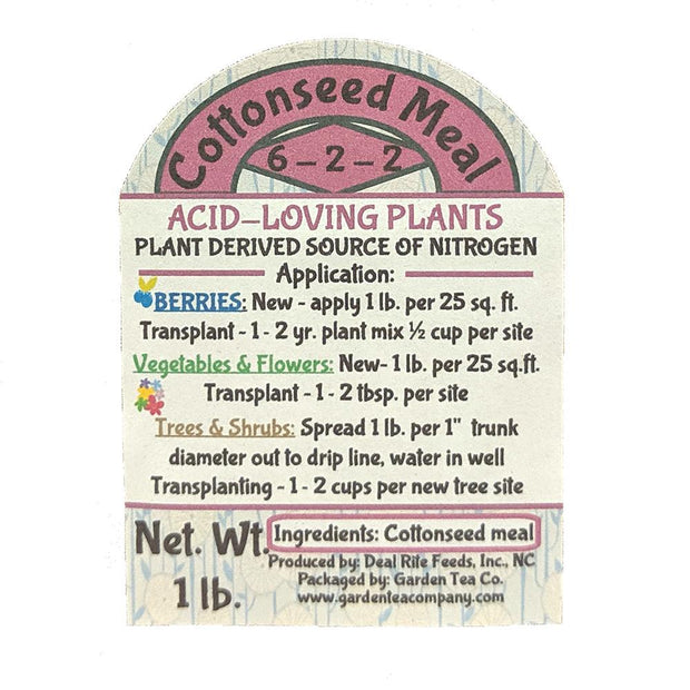 Cottonseed Meal Label
