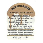 Dry Molasses Soil Amendment Label