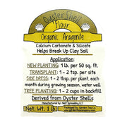 Oyster Shell Flour Aragonite Soil Amendment Label
