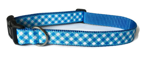 Dog Collar - Blue Plaid