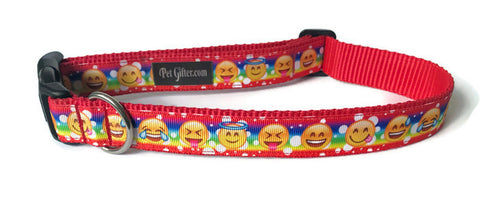 Dog Collar - Emoticons
